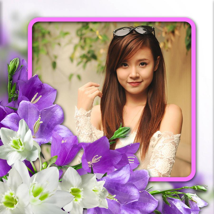 Ghép khung ảnh hoa tím sang trọng