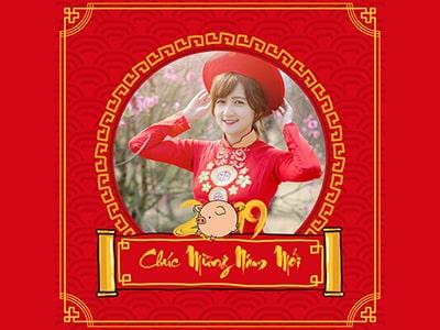 Khung ảnh avatar Tết 2019