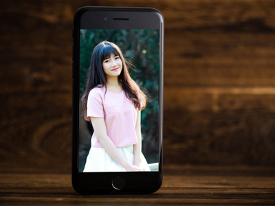 Khung ảnh Iphone 7 Jet Black