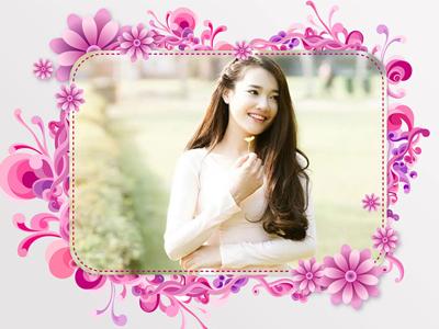 Khung ảnh hoa chúc mừng ngày Phụ nữ Việt Nam 20/10