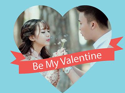 Ghép ảnh vào thiệp valentine đẹp