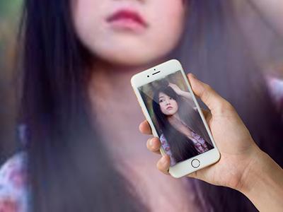 Khung ảnh iphone 7 gold đẹp