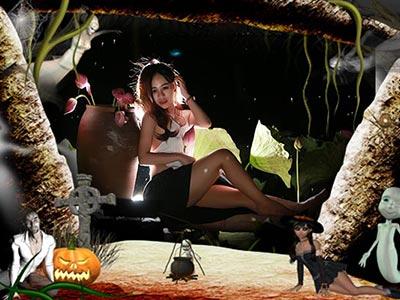 Khung ảnh Halloween 4
