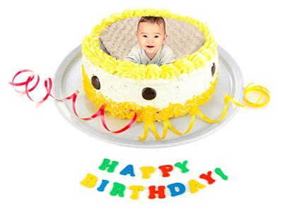 Khung ảnh bánh sinh nhật vui nhộn