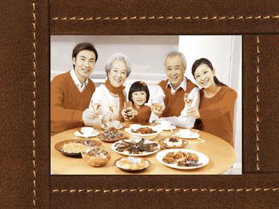Khung ảnh blend màu gia đình đẹp