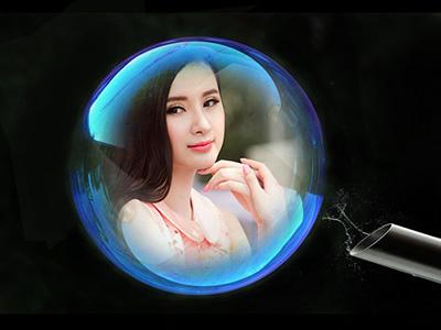 Ghép ảnh với bong bóng đẹp