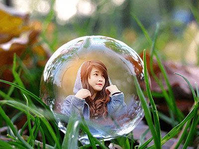 Khung ảnh bong bóng lãng mạn