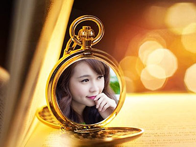 Khung ảnh đồng hồ quả quýt