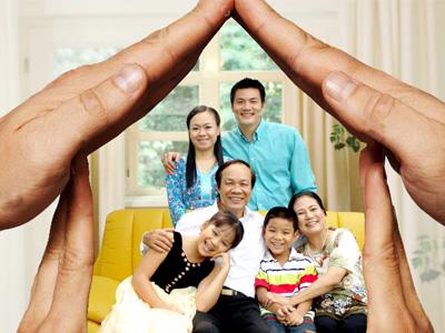 Khung ảnh gia đình ấn tượng