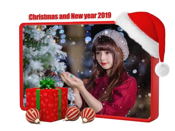 Khung ảnh giáng sinh và năm mới 2019