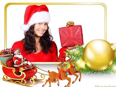 Ghép ảnh giáng sinh cùng Ông già Noel