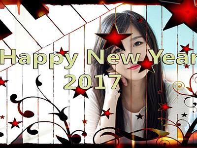 Khung ảnh happy new year 2017