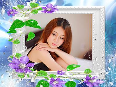 Hiệu ứng khung ảnh hoa đẹp