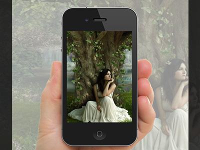 Khung ảnh iphone 4 cầm tay đẹp