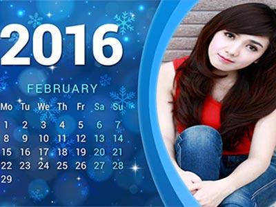 Khung ảnh lịch tháng hai ấn tượng