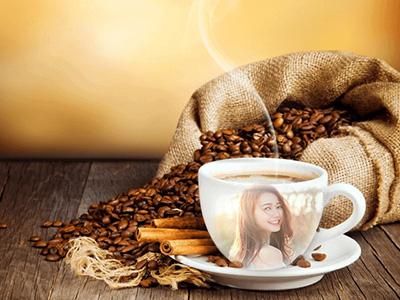 Khung ảnh ly cafe đẹp
