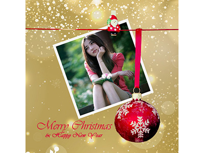 Khung ảnh merry christmas and happy new year