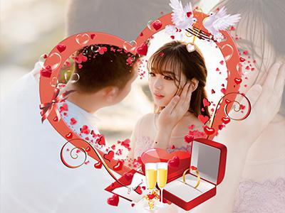 Khung ảnh nhẫn cưới lãng mạn