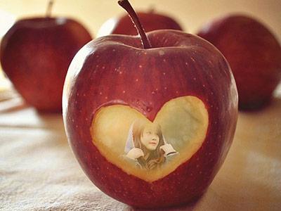 Khung ảnh quả táo