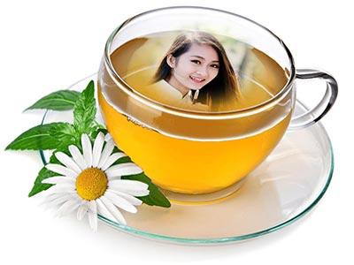 Ghép ảnh vào tách trà đẹp