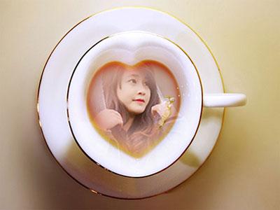 Ghép ảnh vào tách cafe