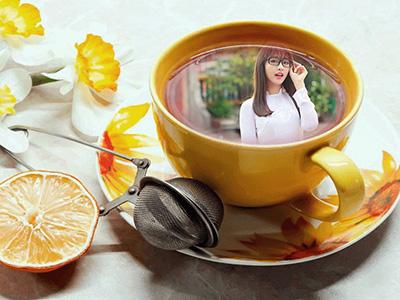 Hiệu ứng khung ảnh tách trà chanh