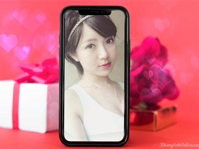 Khung ảnh điện thoại chủ đề Tình yêu