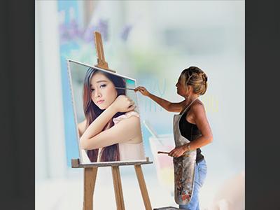 Khung ảnh tranh vẽ nghệ thuật