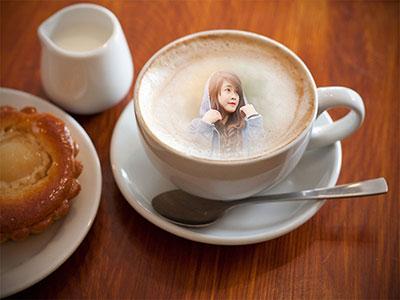 Ghép ảnh vào tách cafe online