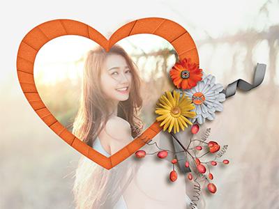 Trái tim hoa cúc đẹp