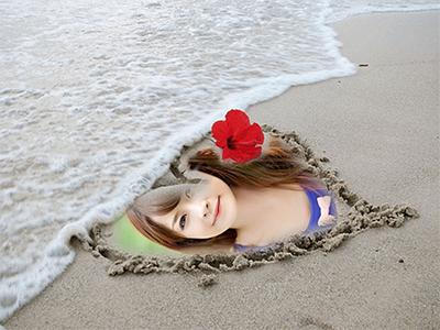 Trái tim trên bãi biển