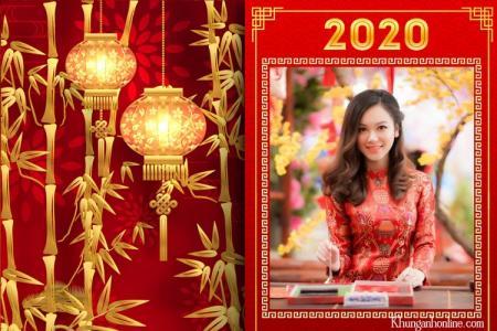 Tạo ảnh tết chúc mừng năm mới 2020 online cực đẹp