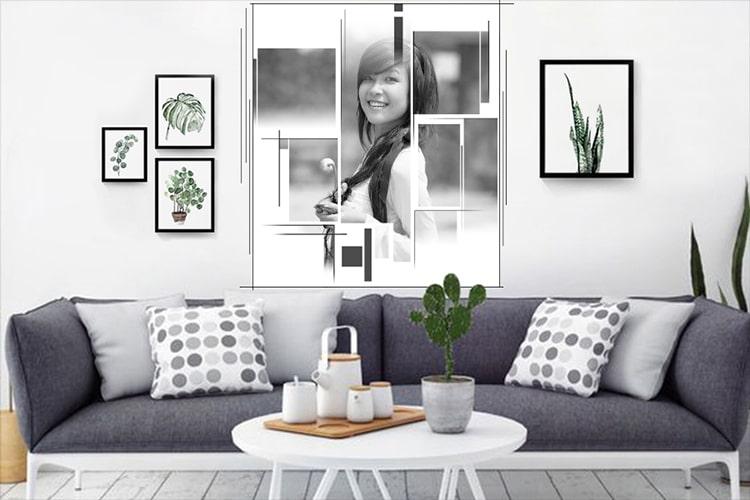 Khung ảnh nghệ thuật trang trí phòng khách