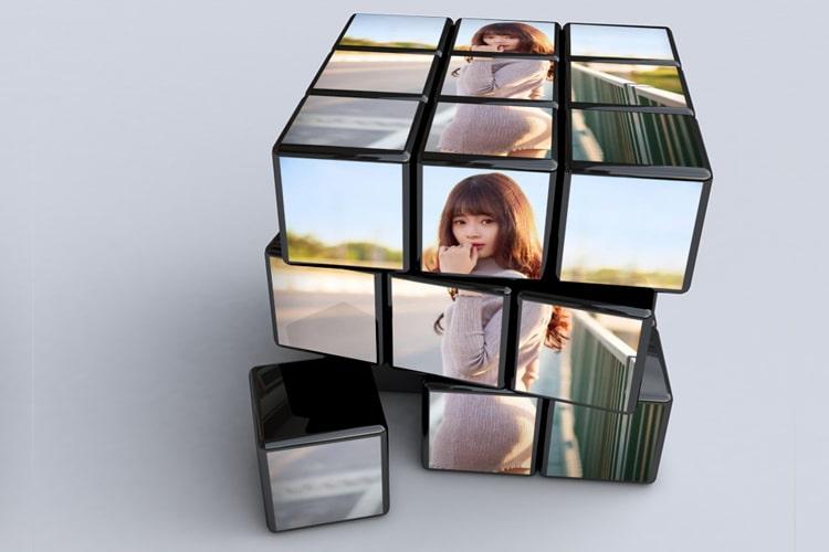 Tạo khung ảnh  khối Rubik cực đẹp