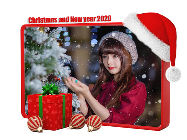 Khung ảnh giáng sinh và năm mới 2020