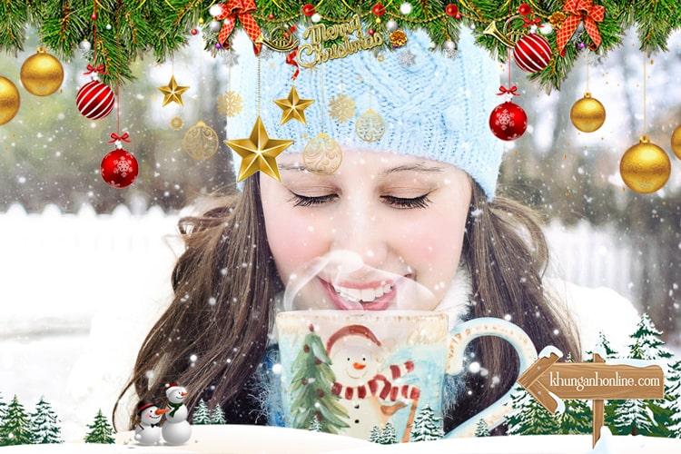 Trang trí ghép ảnh giáng sinh online tuyệt đẹp