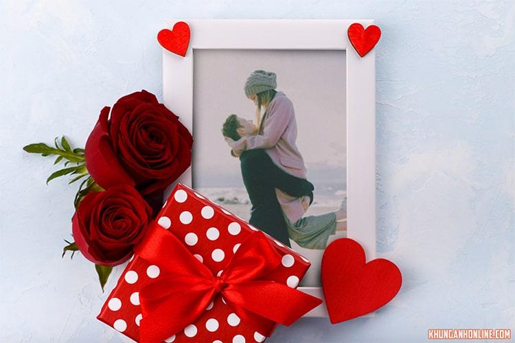 Khung ảnh hộp quà tình yêu