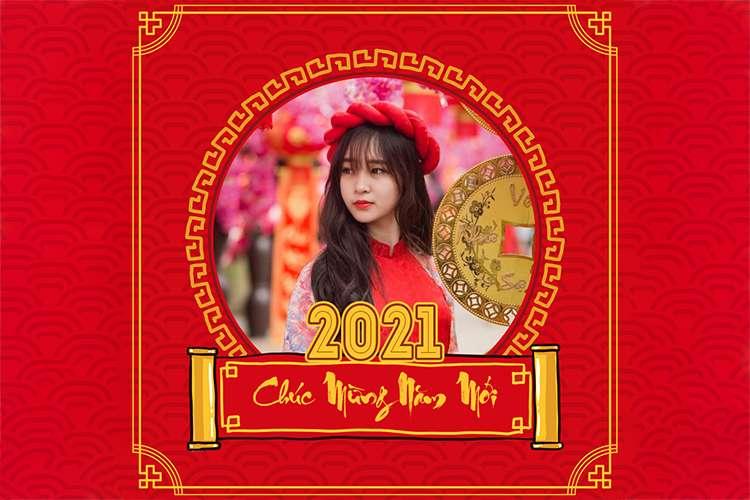 Khung ảnh avatar Tết 2021