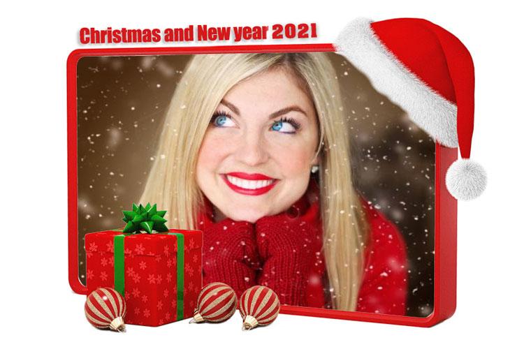 Khung ảnh giáng sinh và năm mới 2021