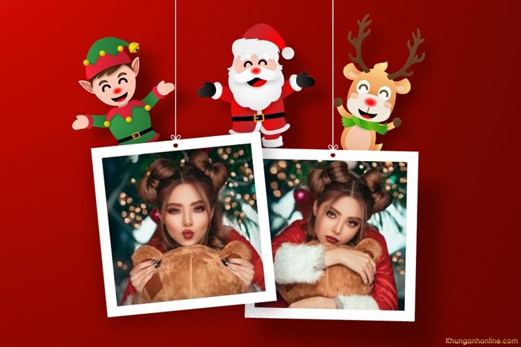 Tạo khung ảnh đôi giáng sinh tuyệt đẹp cho Noel 2020
